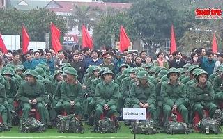 Nghệ An: 2.900 thanh niên hăng hái lên đường nhập ngũ