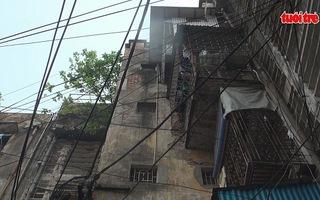 Báo động tình trạng xuống cấp tại khu chung cư cũ