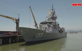 Tàu chiến hải quân hoàng gia Australia cập cảng Đà Nẵng