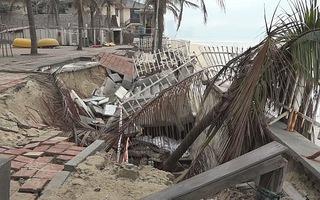 Sụp lở ở bãi biển Mỹ Khê có nguyên do khai thác nước ngầm quá mức