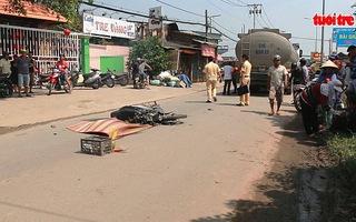 Xe bồn chạy vào đường hẹp cán cô gái trẻ tử vong