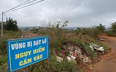Vì sao cố quy hoạch khu dân cư dọc tuyến đường sụt lún?