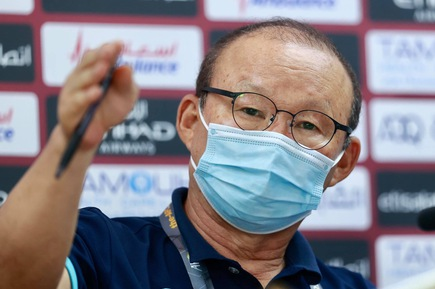 HLV Park Hang Seo: 'Tôi không muốn cầu thủ nghĩ về kết quả hòa để đầu bảng'