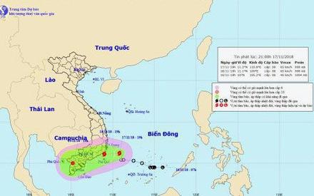 Bão số 8 đang cách bờ biển Ninh Thuận - Bình Thuận 240km