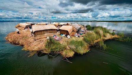 Những 'hòn đảo' tự di chuyển trong hồ Titicaca ở Peru