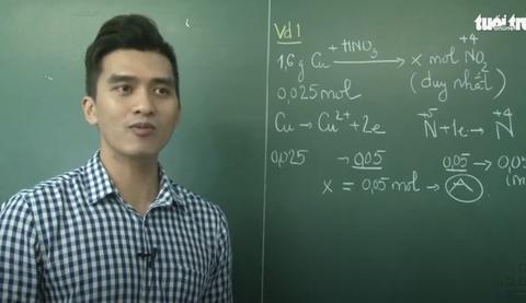 Ôn Tập Online Lớp 12   Giải bài tập Oxi hóa-khử bằng 'Đinh luật bảo toàn Electron'
