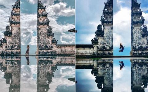 Du khách 'bật ngửa' vì ảnh Cổng trời ở Indonesia bị 'làm giả'