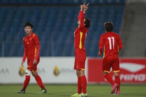 Video: Các bàn thắng của tuyển nữ Việt Nam trong trận thắng Tajikistan