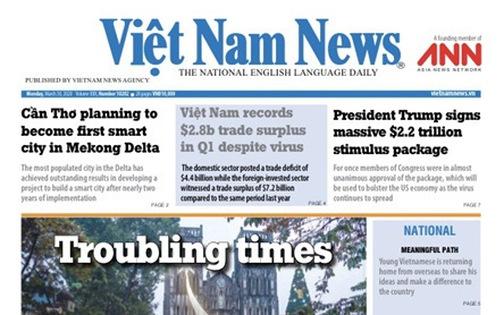 Việt Nam News tạm ngừng báo in vì phóng viên nhiễm corona