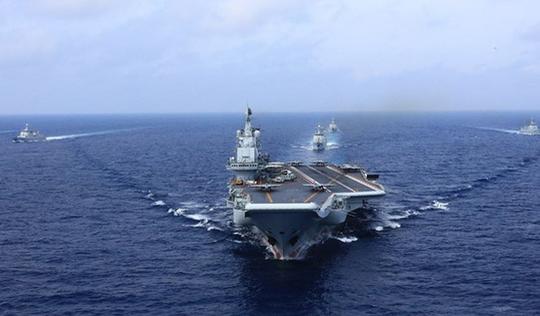 Tàu sân bay Trung Quốc tập trận 'dằn mặt' Đài Loan