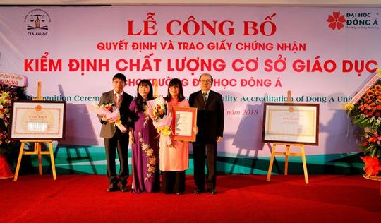 ĐH Đông Á đạt chuẩn kiểm định chất lượng giáo dục