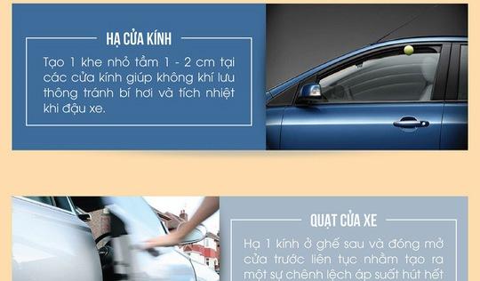 Cách hạ nhiệt khoang lái xe ô tô nhanh chóng