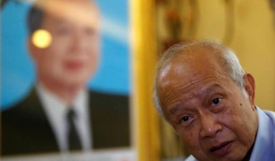 Hoàng thân Campuchia Norodom Ranariddh bị thương vì đụng xe