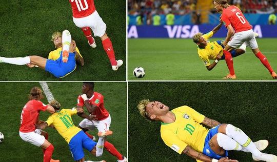 Neymar 'ngã sấp, ngã ngửa' nhiều nhất tại World Cup 20 năm qua