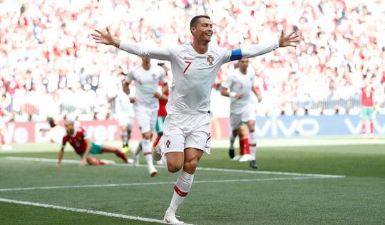 Hiệp 1, Ronaldo 'nổ súng', Bồ Đào Nha tạo lợi thế trước Morocco