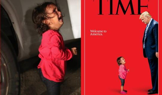 Trang bìa Time cho thấy một nước Mỹ thiếu nhân từ của ông Trump