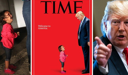 Em bé nức nở trước ông Trump trên bìa Time chỉ là một nửa sự thật