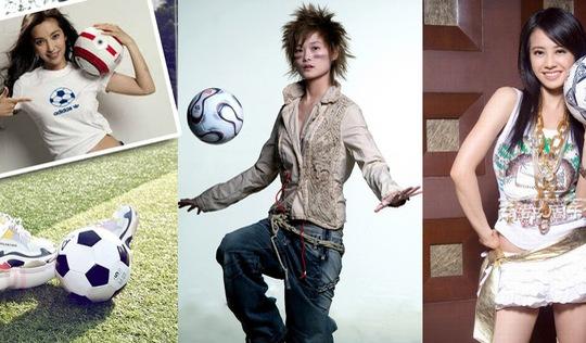 Triệu Vy, Lý Băng Băng, Huỳnh Thánh Y… điên cuồng với bóng đá