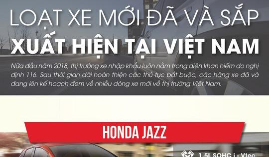 Loạt xe mới đã và sắp xuất hiện tại Việt Nam