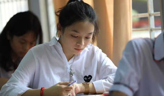 Thí sinh thoải mái bước vào thi toán THPT quốc gia 2018