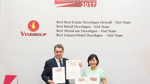 Vingroup được tạp chí Euromoney trao giải thưởng bất động sản danh giá