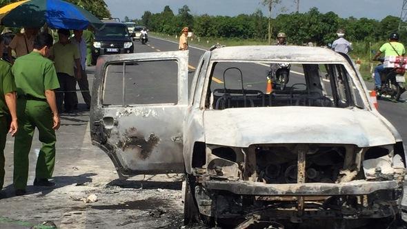 Đã bắt được nghi can đốt xe, giết giám đốc giữa đêm