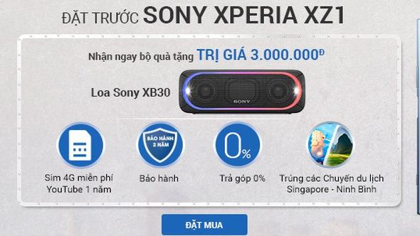Đặt trước Sony Xeria XZ1 nhận ngay quà khủng tại Viễn Thông A