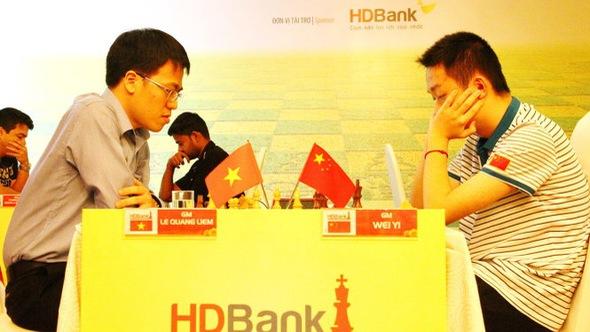 Quang Liêm hòa 2 nhà vô địch Trung Quốc
