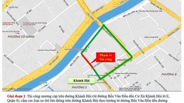 Tổ chức lại giao thông một số tuyến đường quận 1, 4