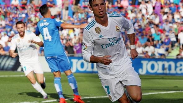 """Ronaldo """"nổ súng"""", R.M chật vật đá bại Getafe"""