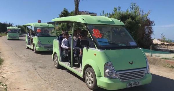 Ô tô điện thân thiện môi trường trên đảo Lý Sơn - mega 645