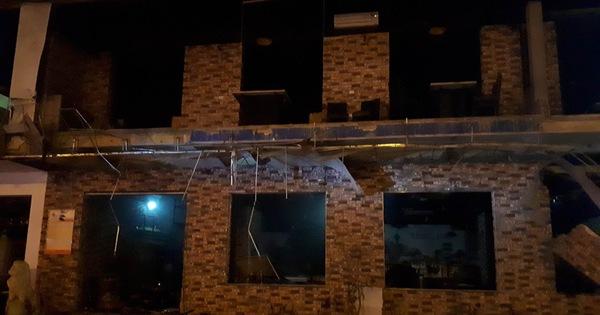 Một tòa nhà hai tầng nổ giữa đêm ở Nghệ An