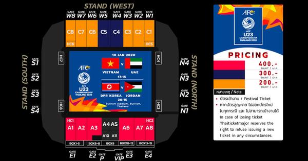 Vé xem U23 Việt Nam thi đấu giải U23 châu Á 2020 giá cao nhất khoảng 300.000 đồng - xổ số ngày 18102019