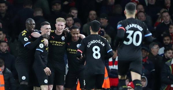 De Bruyne tỏa sáng, Man City nhẹ nhàng đánh bại Arsenal ngay trong hiệp 1 - kết quả xổ số bình định