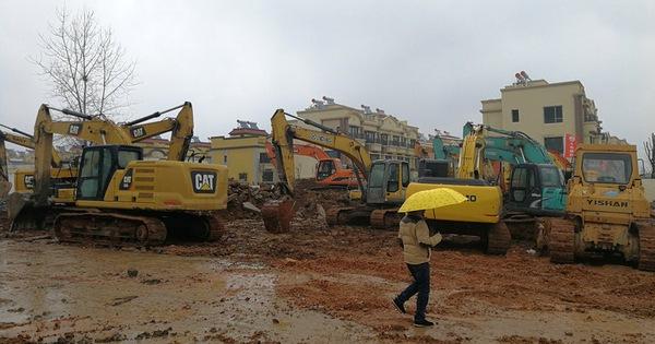 Trung Quốc xây dựng bệnh viên dã chiến đặc biệt tại Vũ Hán