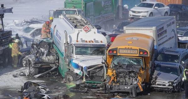 Canada: 69 người bị thương trong một vụ tai nạn liên hoàn của 200 chiếc xe