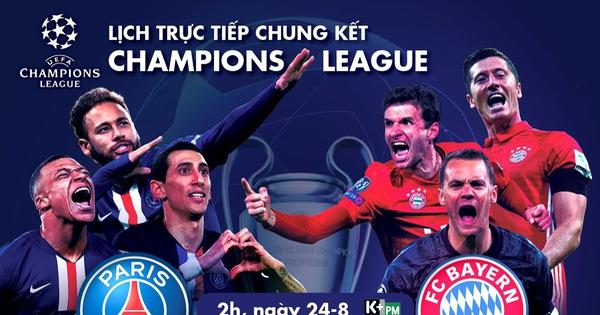 Lịch trực tiếp chung kết Champions League: PSG - Bayern