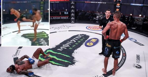 Xem võ sĩ MMA đau đớn bò trên sàn và 'rên la', sau 2 lần bị đá trúng... 'chỗ hiểm'