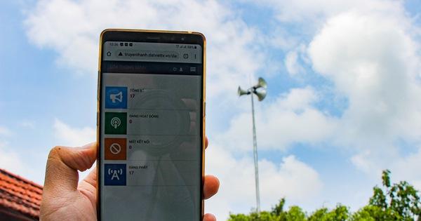 Đài truyền thanh áp dụng công nghệ AI, điều khiển bằng điện thoại thông minh