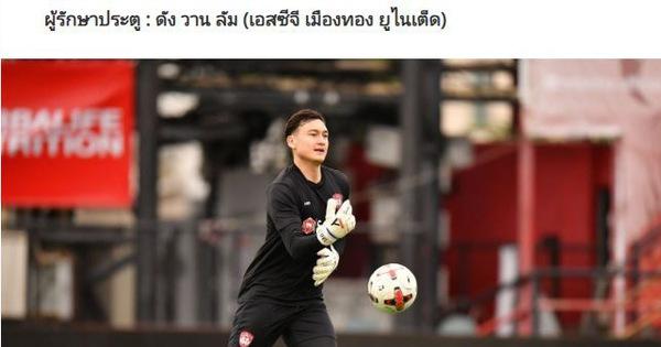 Thủ môn Văn Lâm được chọn vào đội hình tiêu biểu của Thai League - kết quả xổ số phú yên