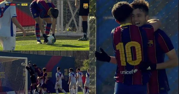 Sao trẻ Barca ghi bàn tuyệt đẹp từ... chấm phạt góc - kết quả xổ số ninh thuận