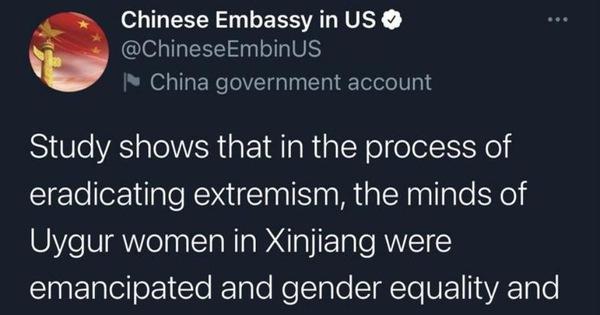 Twitter khóa tài khoản của đại sứ quán Trung Quốc tại Mỹ