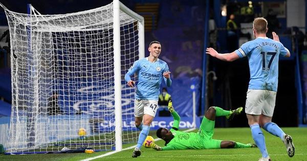 Man City thắng thuyết phục Chelsea tại Stamford Bridge