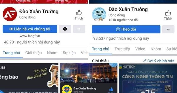 Hàng chục fanpage confession trường đại học bị hacker đổi tên thành Đào Xuân Trường