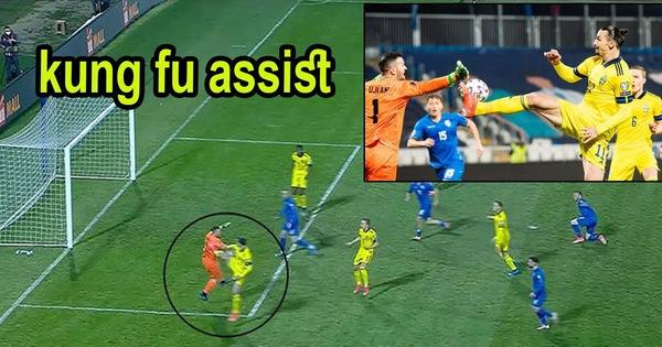 Ibrahimovic kiến tạo siêu đẳng 'kiểu kung-fu' giúp Thụy Điển dẫn đầu bảng B