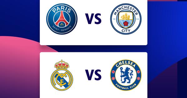 Hai cặp đấu bán kết Champions League hấp dẫn bậc nhất lịch sử