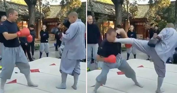 Nhà sư thiếu lâm gây sốt khi hạ cao thủ MMA với cú đá 'nhanh như chớp'