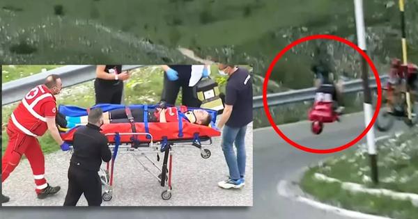 Video: Cuarơ Mohoric gặp tai nạn với