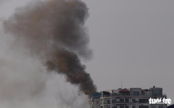 Cháy lớn tại chung cư cao cấp Golden Westlake, Hà Nội