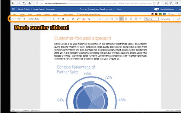 Microsoft thiết kế lại phần mềm Office gọn gàng, đơn giản hơn